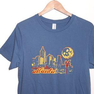 Atlanta Georgia Skyline Varsity Graphic T-Shirt